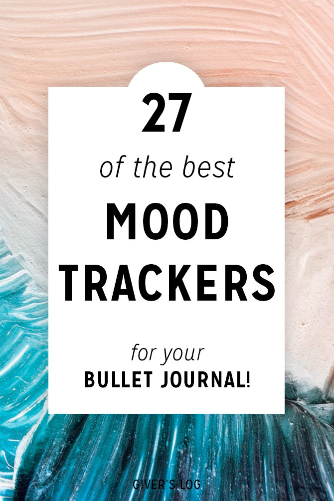 bullet journal mood tracker is a fantastic way to practice self care