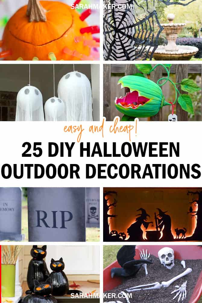 25 Easy DIY Outdoor Halloween Decorations