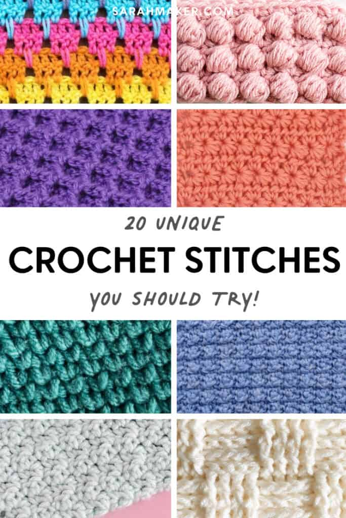 unique and different crochet stitch tutorials and patterns to try