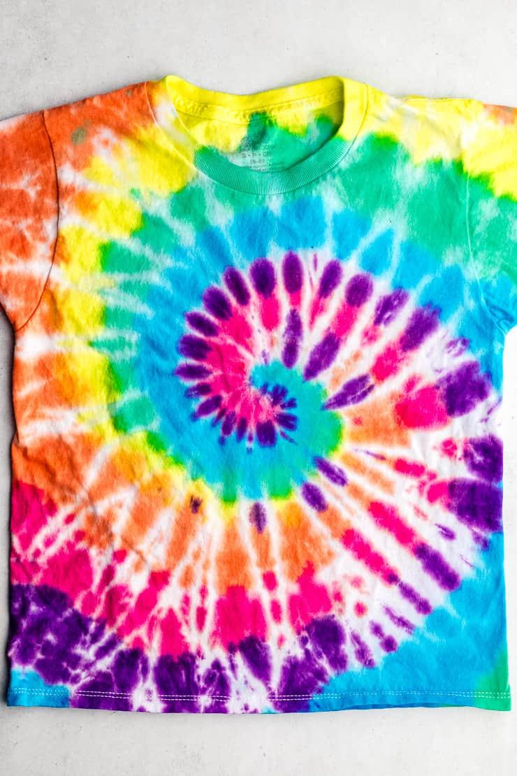 complete rainbow spiral swirl t shirt
